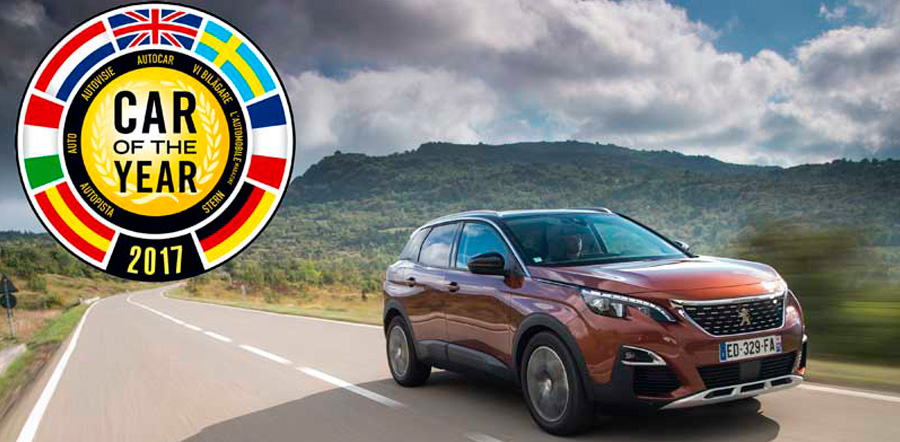 Peugeot 3008 nombrado Car of the Year 2017