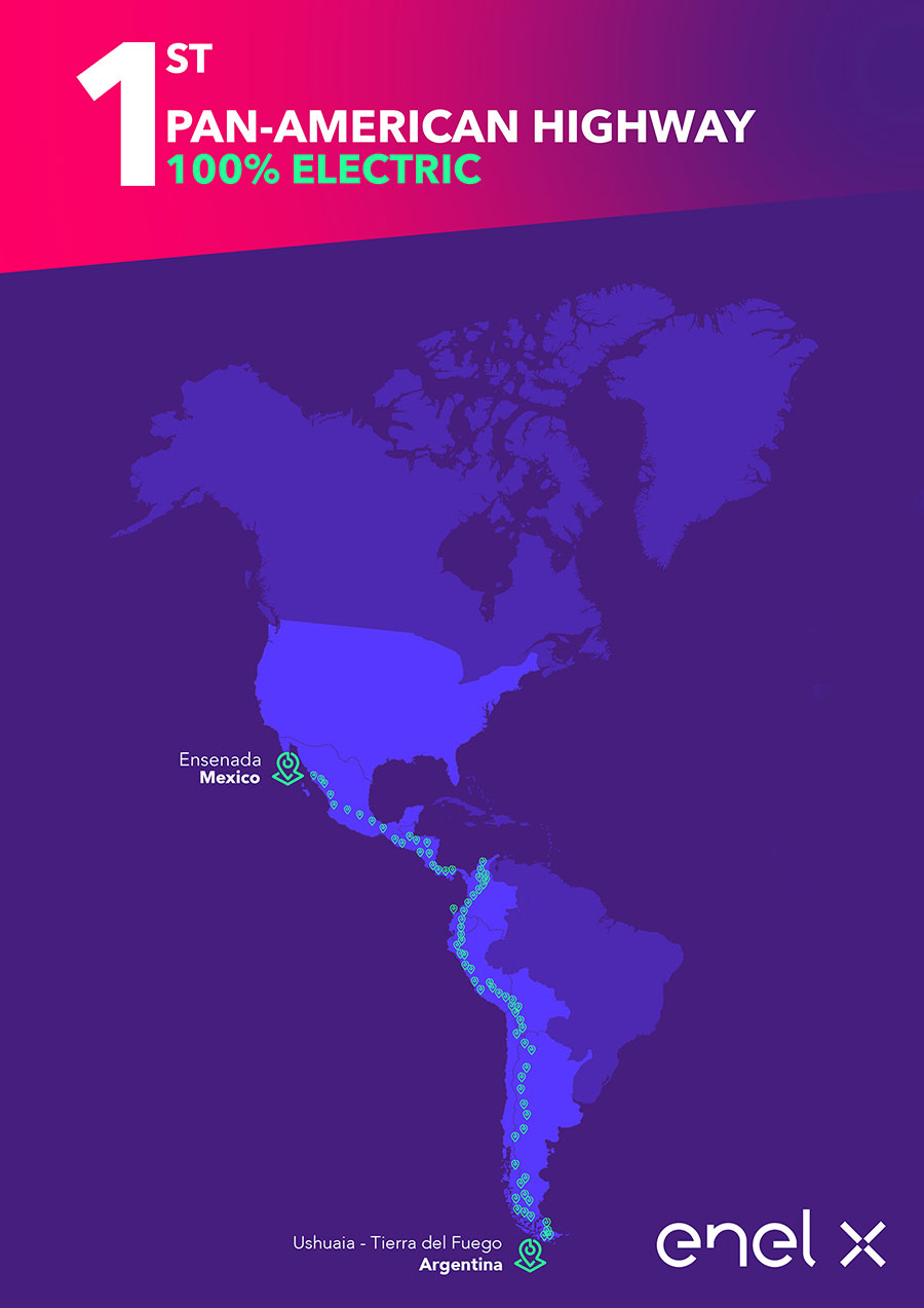 Enel X crea el primer corredor de recarga panamericano 2
